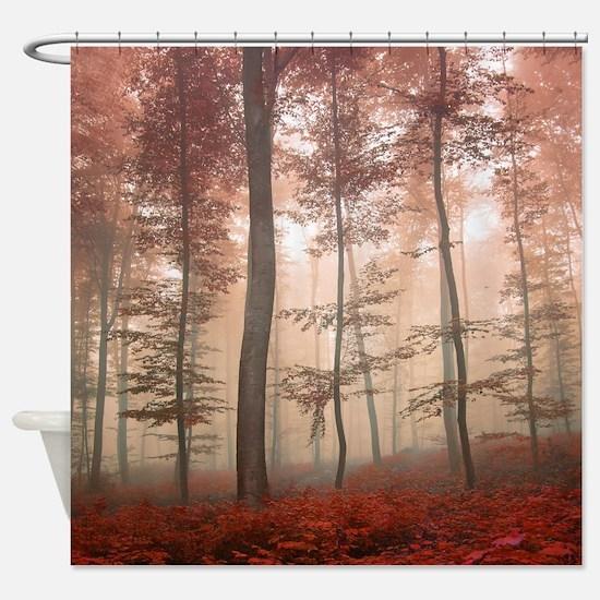 Misty Autumn Forest Shower Curtain