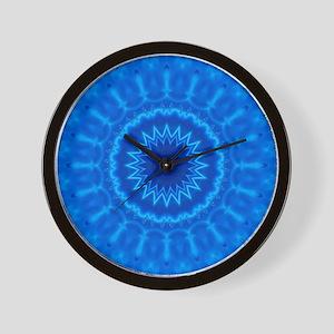 Blue Water Mandala Wall Clock