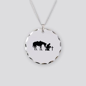 COWBOY HORSE AND CROSS Necklace