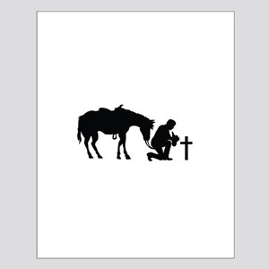 COWBOY HORSE AND CROSS Posters
