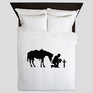COWBOY HORSE AND CROSS Queen Duvet