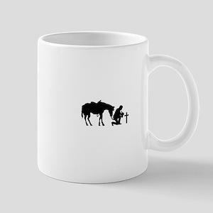 COWBOY HORSE AND CROSS Mugs