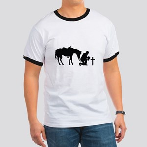 COWBOY HORSE AND CROSS T-Shirt