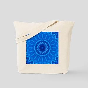 Blue Water Mandala Tote Bag