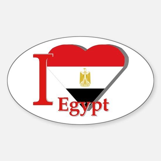 I Love Egypt Stickers | CafePress