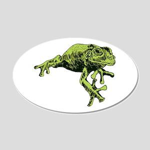 Green Tree Frog 22x14 Oval Wall Peel