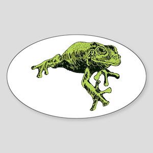 Green Tree Frog Sticker (Oval)