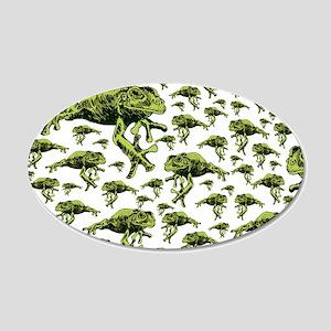 Green Tree Frogs 22x14 Oval Wall Peel