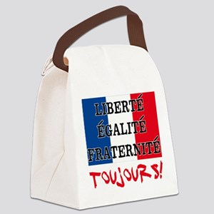 Liberte Egalite Fraternite Toujou Canvas Lunch Bag