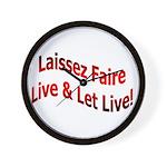 Laissez Faire Wall Clock