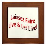 Laissez Faire Framed Tile