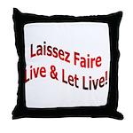 Laissez Faire Throw Pillow