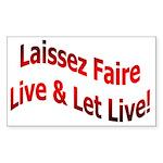 Laissez Faire Rectangle Sticker