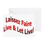 Laissez Faire Greeting Cards (Pk of 10)