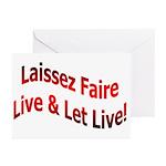 Laissez Faire Greeting Cards (Pk of 10)