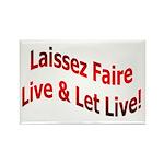 Laissez Faire Rectangle Magnet (100 pack)