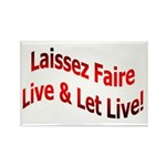 Laissez Faire Rectangle Magnet (10 pack)