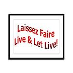 Laissez Faire Framed Panel Print
