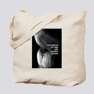 The Curve Of Your Lips Tote Bag