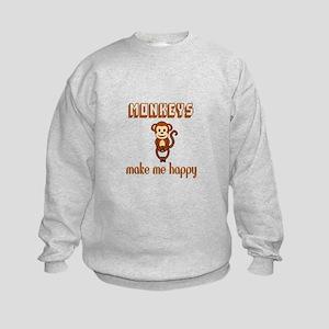 Monkeys Make Me Happy Sweatshirt