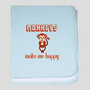 Monkeys Make Me Happy baby blanket
