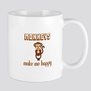 Monkeys Make Me Happy Mugs