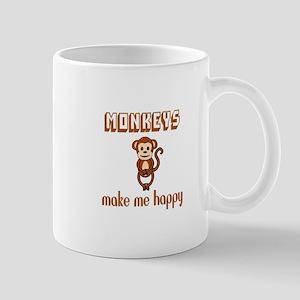 Monkeys Make Me Happy Mugs