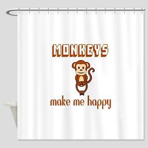 Monkeys Make Me Happy Shower Curtain