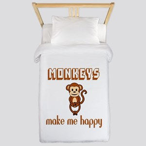 Monkeys Make Me Happy Twin Duvet Cover