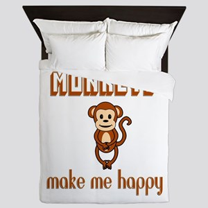 Monkeys Make Me Happy Queen Duvet