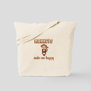 Monkeys Make Me Happy Tote Bag