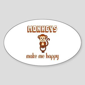 Monkeys Make Me Happy Sticker