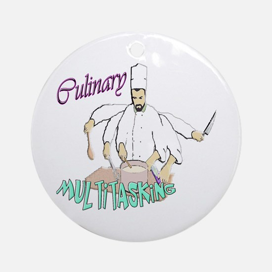 Culinary Multitasking Ornament (Round)