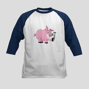 Pig Shaving Kids Baseball Jersey