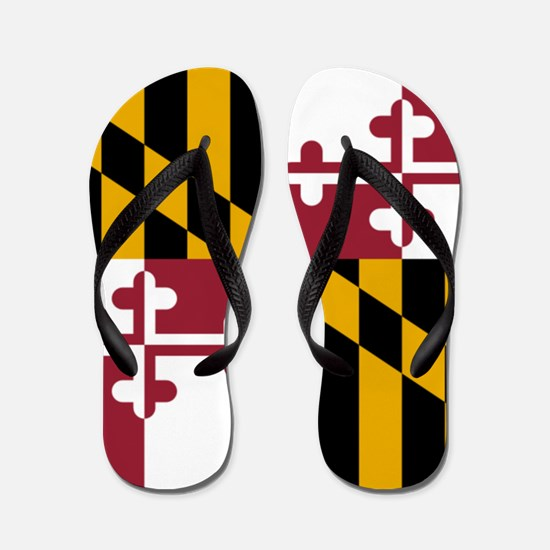 Flag of Maryland Flip Flops