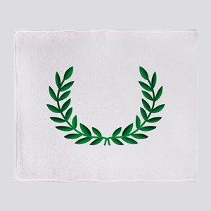 LAUREL WREATH Throw Blanket