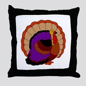 Thanksgiving Turkey Throw Pillow
