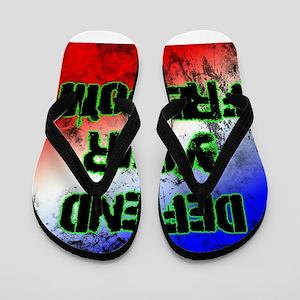 Defend Your Freedom Flip Flops
