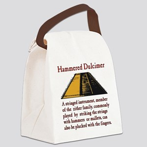 Hammered Dulcimer Canvas Lunch Bag