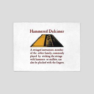 Hammered Dulcimer 5'x7'Area Rug