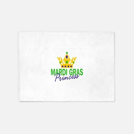 MARDI GRAS PRINCESS 5'x7'Area Rug