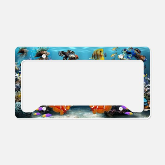 Cute Underwater License Plate Holder
