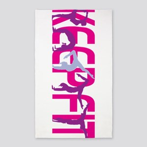 Keep Fit in Pink Area Rug