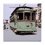 Old Streetcar 1930's Tile Coaster
