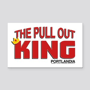 The Pull Out King Portlandia Rectangle Car Magnet