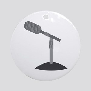 Microphone Desk Stand Ornament (Round)