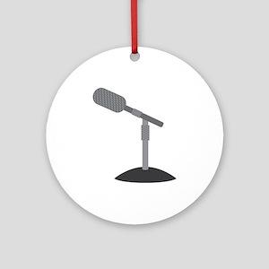 Microphone Desk Stand Ornament (Round)