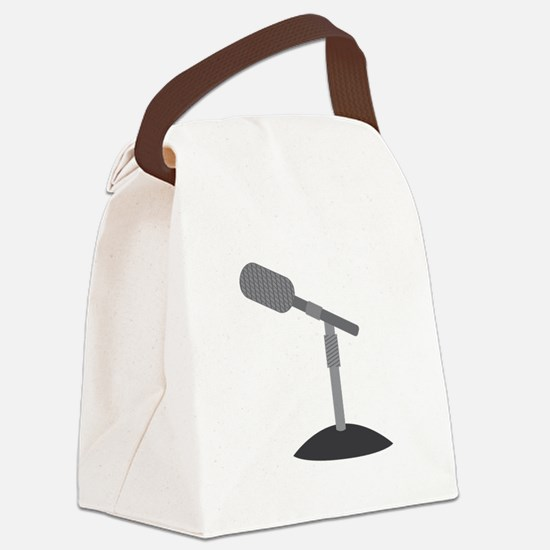 Microphone Desk Stand Canvas Lunch Bag