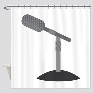 Microphone Desk Stand Shower Curtain