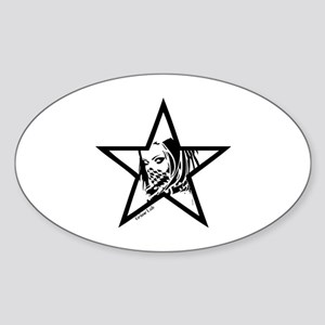 Pin Up Star Sticker (Oval)